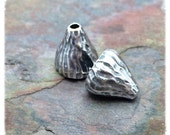Antique Silver or Brass Acorn End Caps 2 PC