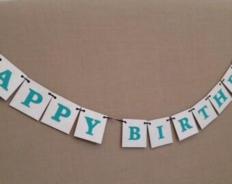 Happy Birthday Banner * Happy Birthday * Happy Birhday Garland * personalized birthday banner * custom word banner
