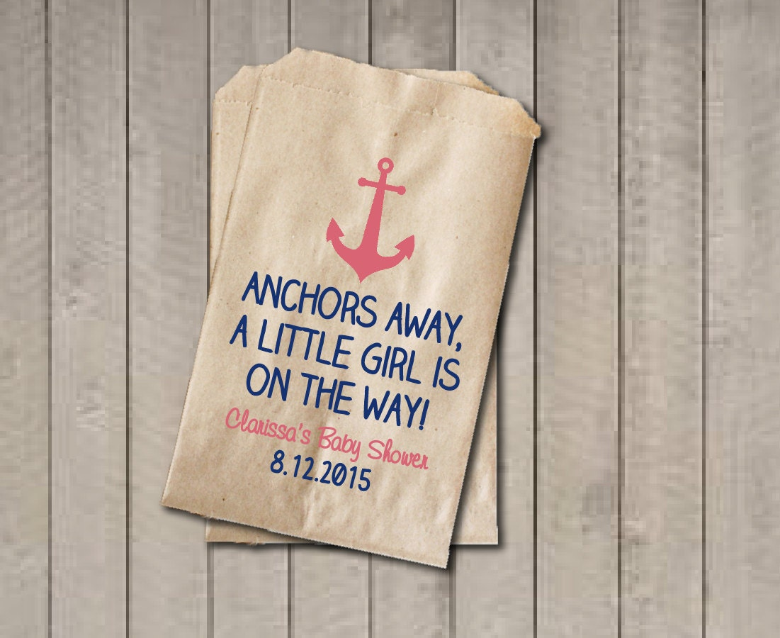 girl baby shower favor bags nautical favor bags baby shower
