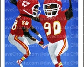 Derrick Thomas and Neil Smith, Kansas City Chiefs Art Photo Print