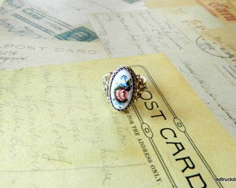 Vintage,Adjustable,Silver,Ring