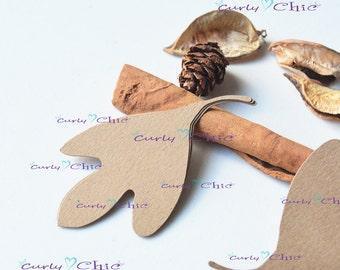 """120 Leaf I Die cuts 3"""" -Paper Leaf Tags -Cardstock Autumn Leaf Labels -Cardstock die cuts -Paper tags -Autumn Labels -Leaf Labels"""