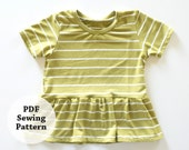 Glory Tee (PDF Sewing Pattern) Baby, Toddler, Girls Apparel