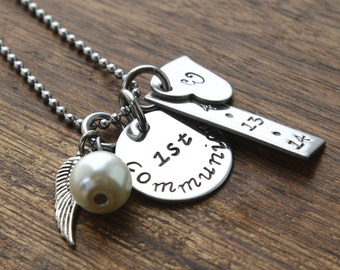 First Communion Jewelry Personalized First Communion Necklace Personalized First Communion Gift Communion Gift For Girl Confirmation