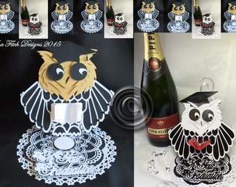 Graduation Owl Easel Card Cutting file