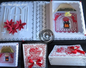 Christmas Folded Book Card  All file formats