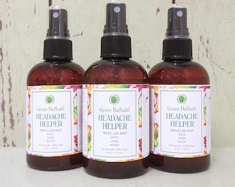 Headache Helper Room Spray Mist - Green Daffodil - VEGAN - 4oz. - RM