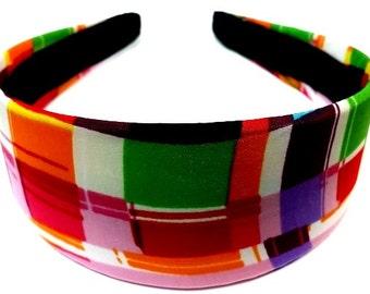 Retro Multi Color Abstract Headband 2 Inch