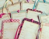 Set of 4, Ballet, Dance Costume Organization Hang Tags