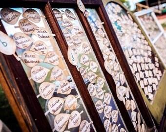 100 Paper Leaf - Apple Leaves -Vintage Inspired, Wedding Place Cards- Escort Cards, Wedding Wish tree
