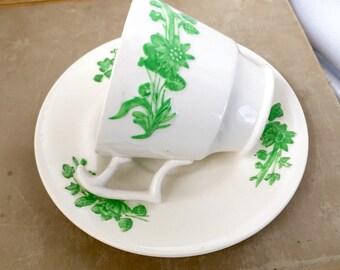 Copeland Spode Shamrock demitasse cup and saucer