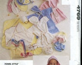 McCalls 4769 Baby Accessories - Layette Pattern - UNCUT - lamb applique