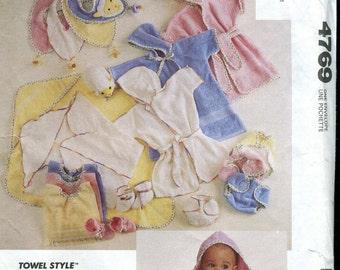 McCalls 4769 Baby Accessories - Layette Pattern - UNCUT - lamb applique