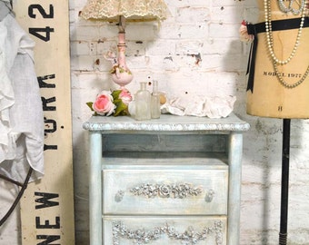 Painted Cottage Shabby Romantic Night Table NT785