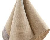 Cabin Series II - Aspen Leaf design, Hand Woven Linen Hand Towel