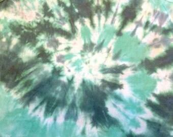Green Spiral Tie-dye Tank Top Youth XL