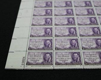 Scott #946, Joseph Pulitzer, US Postage Stamps Sheet, Unused US Postage Stamps