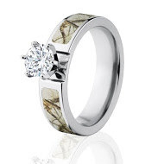 camo rings realtree engagement ring w 1 ctw 14k prong set