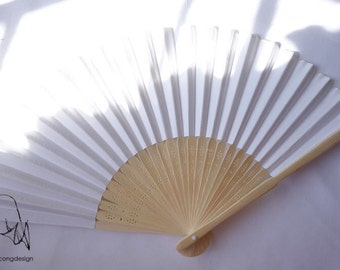 White paper fan for wedding guests,before 3.00 Now2.00,harry up!