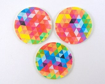 Miniature Plates - Dollhouse Paper Plates in Geometric Patterns - 1/12 Scale Dollhouse Miniatures