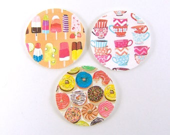 Dollhouse Plates - Miniature Paper Plates in Dessert and Tea Time Patterns - 1/12 Scale Dollhouse Miniatures