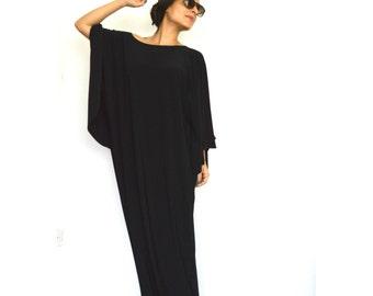 Black Long Caftan- Elegant evening caftan/ Women caftans by Onor