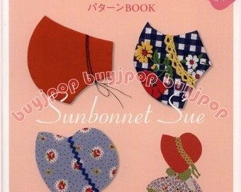 Sunbonnet Sue Japanese Craft Pattern Book Patchwork Quilt Bag OUT OF PRINT