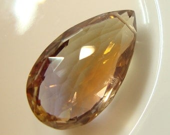 One Large AAA All Natural Ametrine Pendant Focal Briolette