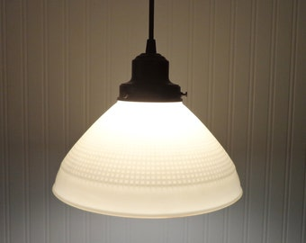 Vintage Milk Glass PENDANT Light Hanging Fixture Kitchen