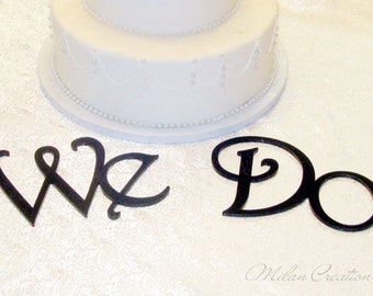 WE DO Wedding Decorations Cake Table Letters for Wedding Cake Table Decor