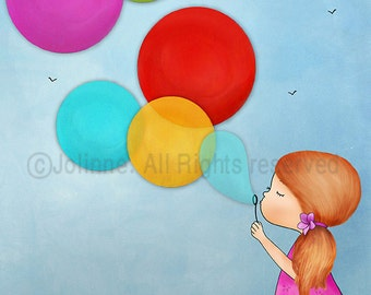 Girls Wall Art Decor Prints For Kids Bedroom Wall Art Canvas Girl With Balloons Wall Decoration Childrens Room Decor Artwork Prints Posters