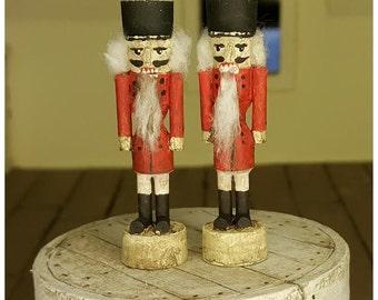 Doll House Miniature - Vintage Classic Red Nutcracker