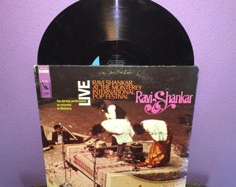 SHOP CLOSING SALE Rare Vinyl Record Ravi Shankar - Live at the Monterey Int'l Pop Festival Lp 1967 Indian Sitar