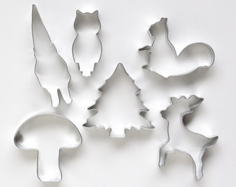 Woodland Cookie Cutter Set, Forest Cookie Cutters, Alpine Cookie Cutter Set