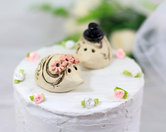 Hedgehog Wedding Hedgehog cake topper Animal Cake Topper Custom cake topper wedding