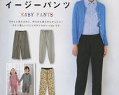 Comfortable & Easy Sewing Pants, Japanese Craft Book for Women, Kids Clothing, Lady Boutique Series, Sewing Tutorial, M, L, LL Size, B1582