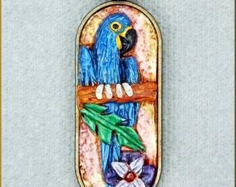 Hyacinth Macaw Necklace by Kristy Zgoda