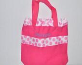 Pink Ruffle Personalized Bag with Name Embroidered on it. Dance Bag, Swim bag, Book Bag, Princess Bag, Easter Basket Bag