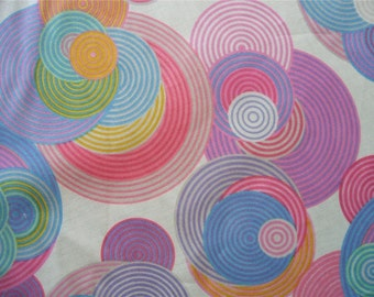 Concentric Circles Natural Multi Color Rings Alexander Henry Fabric Yard