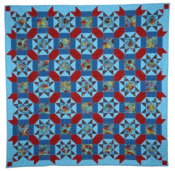 Underwater Stars Quilt pattern PDF