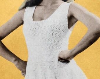 CROCHET PATTERN Tennis Dress - Summer Mini Party Dress Immediate download