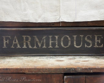 Early looking Antique Primitive Small FARMHOUSE Wooden Sign