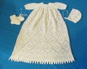 Rose Trellis Christening Gown PDF Pattern