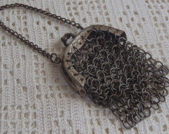 Vintage Mesh Chatelaine Purse Small Size