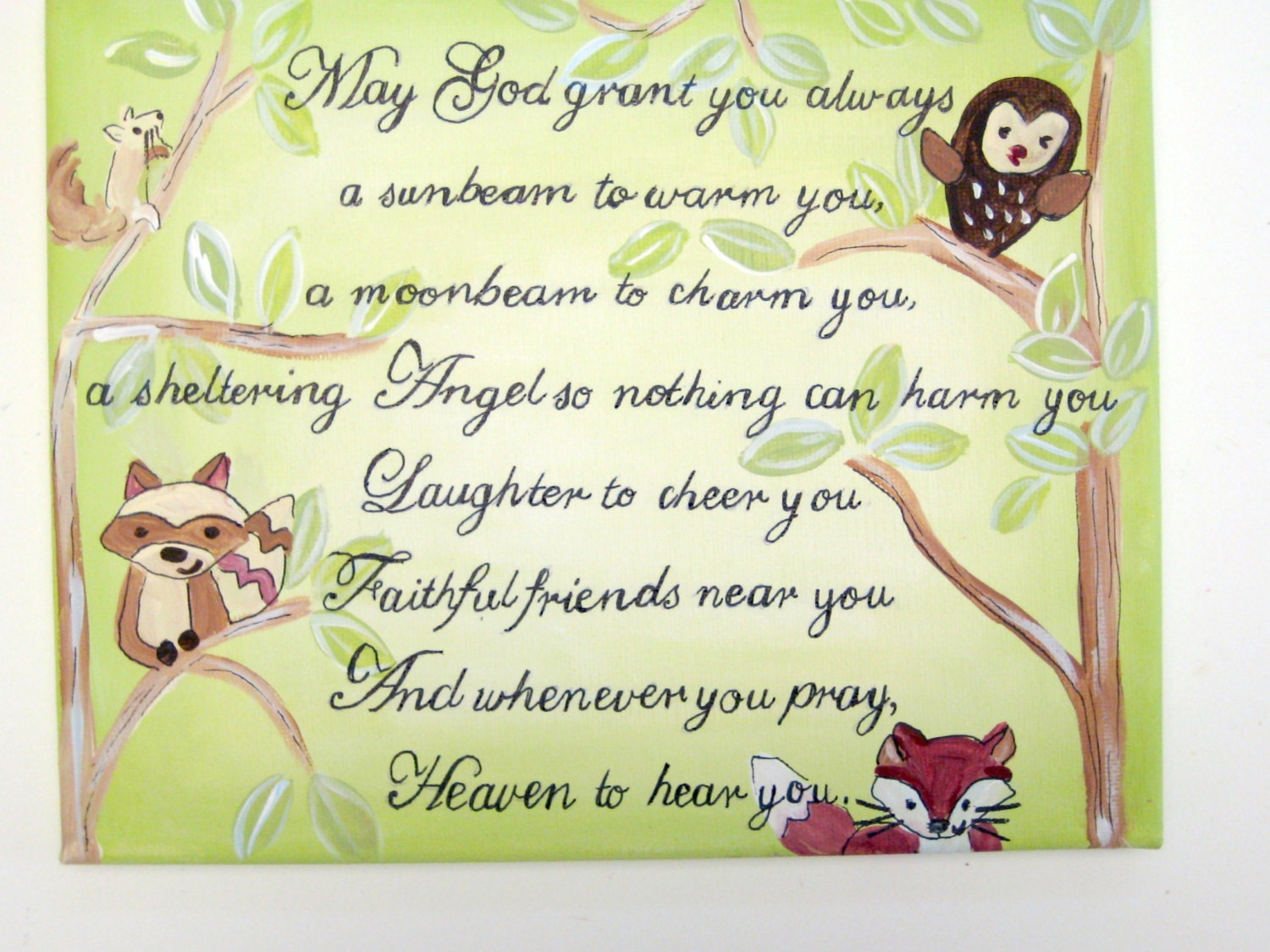 Personalized Baby Gifts Ireland : Irish blessing personalized baby giftinspirational nursery