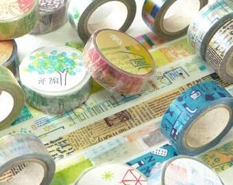 Japanese Washi Masking Tape - Little Path / Chamil Garden Vol.1 & 2 (Choose one)
