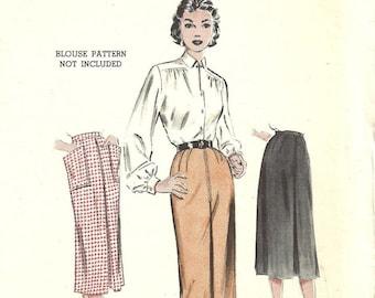 Butterick 6624 / Vintage 50s Sewing Pattern / Skirt / Waist 26