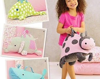 Child's Overnight Bag Pattern, Kid's Animal Bag Pattern, Simplicity Sewing Pattern 1084