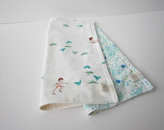 Organic Flannel Set Of 2 Burp Cloths