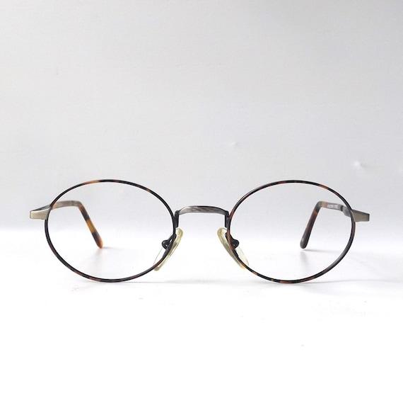 vintage 1990 s nos oval metal wire eyeglasses frames